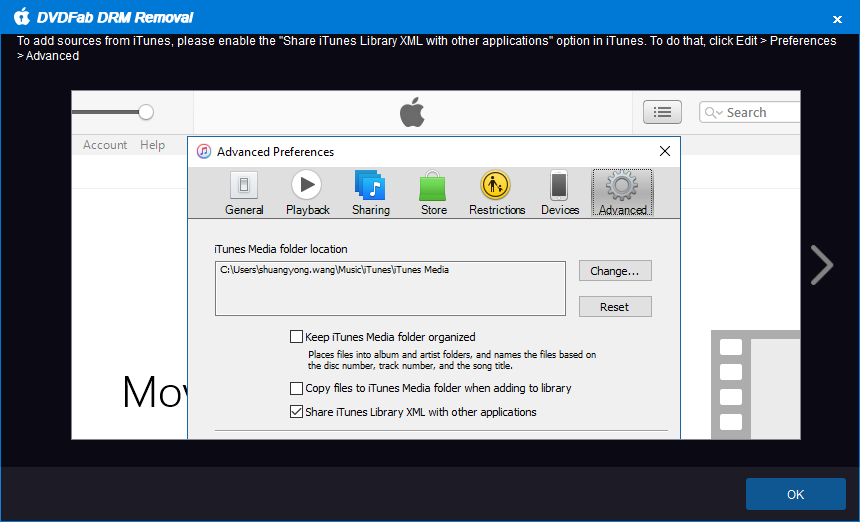 DVDFab apple DRM Removal capture d'écran 1